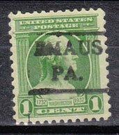 USA Precancel Vorausentwertung Preo, Locals Pennsylvania, Emaus 479 - Vereinigte Staaten