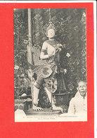 CAMBODGE Cpa Animée Stuatue Ornant Le Pavillon Mortuaire De La Reine Mere          6 Photo Antonio Ou Anonio - Cambodia