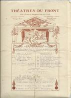 Théatres Du Front-5 Mars 1918-Représentation à L'Hopital De Zuydcoote Par La 29° D.I. - Programmi