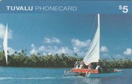 Tuvalu - Catamaran In Funafuti Lagoon - OITIB - Tuvalu