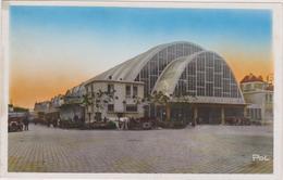 Cpa,1937,reims,les Halles,,attelage Cheval,marne,vue Sur Les Habitants De L 'époque,rare - Reims