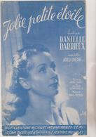 ( RG1)JOLIE PETITE ETOILE  ,   DANIELLE DARRIEUX  , Musique WAL BERG  Paroles ANDRE TABET - Partitions Musicales Anciennes
