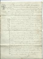 """An 12-""""AU NOM DU PEUPLE FRANCAIS-BONAPARTE PREMIER CONSUL- Département Des Vosges- Acte Notarié-4 Pages - Manuscripts"""