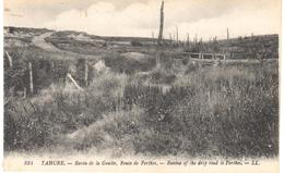 POSTAL    TAHURE  - FRANCIA  - RAVIN DE LA GOUTTE ROUTE DE PERTHES  ( RAVINE OF THE DROP ROAD TO PERTHES ) - Sainte-Menehould