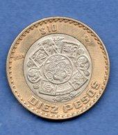 Mexique    - 10 Pesos 2004 -  Km  # 636  - état TB - Mexico