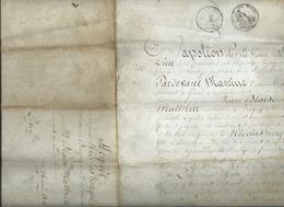"""1806-""""NAPOLEON PAR LA GRACE DE DIEU ET LES CONSTITUTIONS DE LA REPUBLIQUE""""-Vosges- Parchemin 4 Pages - Manuscripts"""