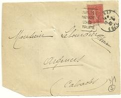 EURE - Dépt N° 27 = BERNAY 1932 = Flamme  DAGUIN ' PROMENADE / PECHES / TRUITE  ' - Marcophilie (Lettres)
