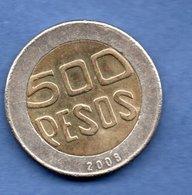 Colombie     - 500 Pesos 2008 -  Km  # 286  - état TTB - Colombie