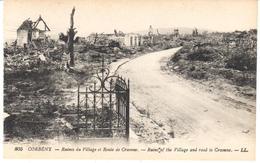 POSTAL   CORBENY   FRANCIA  -RUINES DU VILLAGE ET ROUTE DE CRAONNE  ( RUINS OF THE VILLAGE AND ROAD TO CRAONNE) - Laon