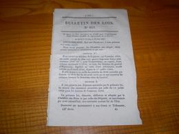 1839 Bulletin Des Lois : Créance Dép. De La Guerre. Fonderie Royale De St Gervais Isère. Conseils D'arrondissement - Decreti & Leggi