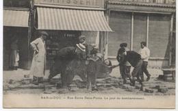 55.BAR LE DUC RUE ENTRE DEUX PONTS  LE JOUR DU BOMBARDEMENT  TBE - Bar Le Duc