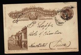 A5374) Uruguay Ganzsachekarte 1920 Gebraucht N. Neuchatel / Schweiz - Uruguay