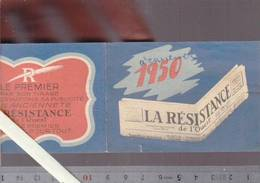 Calendrier Petit Format 1950 - Presse - Nantes - Journal La Résistance De L'ouest - Calendriers