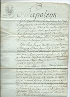 1809-NAPOLEON EMPEREUR DES FRANCAIS-acte Notarié De 4 Pages-Vosges - Manuscripts
