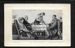CARTE TISSEE : LE FILLEUL - Embroidered