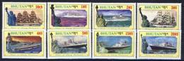 +B1429. Bhutan 1986. Liberty Statue. Ships. Michel 1005-12. MNH(**) - Bhoutan