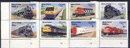 +B1434. Bhutan 1987.CAPEX'87. Locomotives. Michel 1028-35. MNH(**) - Bhutan