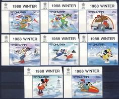 +B1435. Bhutan 1988. Olympic Games Calgary. Michel 1050-57. MNH(**) - Bhutan