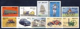 +B1436. Bhutan 1988. Means Of Transport. Michel 1060-69. MNH(**) - Bhutan