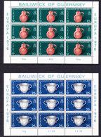 Europa Cept 1976  Guernsey 2v  2 Sheetlets ** Mnh (F7059) - 1976