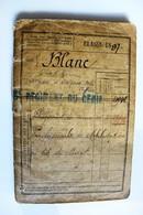 Livret Militaire Classe 1897 Soldat 6 Et 7 Régiment Du Génie Angers Avignon Nice Sapeur Télégraphiste Blanc Raoul - Documents
