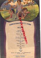 87 -  LIMOGES - 63 - LA BOURBOULE-BEAU MENU ASSOCIATION ANCIENNES ELEVES EPS- HOTEL DU GLOBE 18-6-1933- SAVON SIMON -SKI - Menus