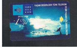 TURCHIA  (TURKEY)  - 1996 1ST ANNIV. TURK TELEKOM  - USED - RIF. 10762 - Turquia