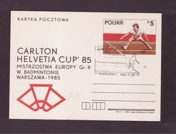 POLONIA  - 26 1 1985 CARLTON ELVETIA CUP'85 - Badminton