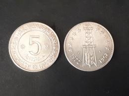 2 MONNAIES DE : 5 DINAR 1972 EN SUP - Algeria