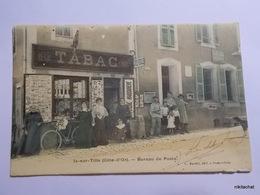 IS SUR TILLE-Bureau De Poste-Tabac-Carte Couleur - Is Sur Tille