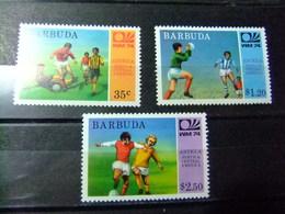 BARBUDA 1974 Wold Cup 74 Munich ALEMANIA Yvert 165 / 167 ** MNH - Coppa Del Mondo