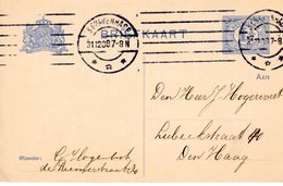 31-123-1908 Bk Met Kragstempel Van 'sGravenhage Lokaal Verzonden - Periode 1891-1948 (Wilhelmina)