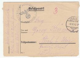Feldpost Letter Travelled 1940 Znaim B180410 - Militaria