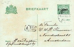 Opdrukbk 96 A I  Van Amersfoort Naar Amsterdam - Postal Stationery