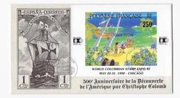 Polynésie  500° Anniversaire De La Découverte De L'Amérique Par Christophe Colomb - Christopher Columbus