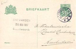 Bk 90 A I Met Langebalk FRANEKER 1  Naar Amsterdam - Postal Stationery