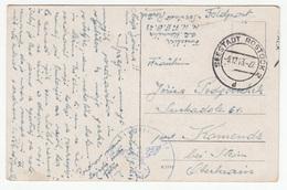 Flowers Postcard Travelled Feldpost 1943 Seestadt Rostock To Komenda B180410 - Militaria