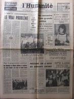 L'Humanité 6 Mai 1966 - J Gréco - Souterrain Tuileries - Refus Des Quarante Centimes - Contre-gouvernement - 1950 - Today