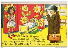 PUB HUILE DE TABLE DES CHARTREUX ILLUSTRATEUR CLADE - Advertising