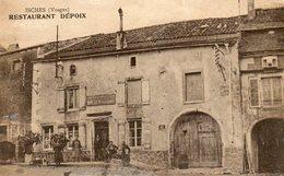 CPA - ISCHES (88) - Aspect Du Restaurant Dépoix Au Début Du Siècle - Francia