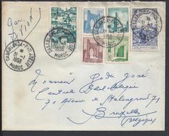 MAROC - Enveloppe De Casablanca Pour Bruxelles Cachets 31-1-1956 - B/TB - - Covers & Documents