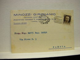 PADOVA --   MINOZZI GIROLAMO -- EDILIZIA - Padova (Padua)