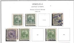 Venezuela PA 1940/44 Statue Bolivar   Scott.C143+144+146+147+148+150+ See Scan On Scott.Page+ - Venezuela