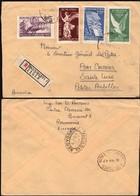 ROMANIA Registered (MiNr. 1024-1027 'Pacea - Peace, Set) Cover, BUCURESTI, 26 MAR 1947 To Sainte Lucie. - 1918-1948 Ferdinand I., Charles II & Michel