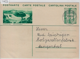 1933 Grosse Wertziffer 133 - Rheinfall-Neuhausen - Stempel: Wynigen - Stamped Stationery
