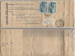 Repubblica Campione Senza Valore Raccomandato Milano 4apr1968 X Città Parchi L.90 Coppia - 6. 1946-.. Repubblica