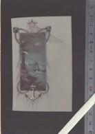 Image Originale Celluloid XIXème - Marine Ancre Phare - (theme Rare Sur Ce Support) - Old Paper