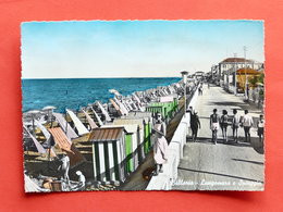 Cartolina Bellaria - Lungomare E Spiaggia - 1957 - Rimini