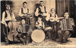 CPA Musique Cirque Circus Cirk Non Circulé Musiciens Troupe Truppe Orchestre Fallone Jazz - Cirque