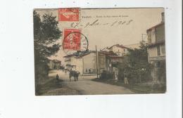VERFEIL (HAUTE GARONNE) ENTREE DU PAYS VENANT DE LAVAUR (MENUISERIE ET ATTELAGE CHAVAL) 1908 - Verfeil